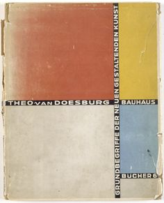 Cover of 'Basic concepts of the new creative art' - Designed by Lazló Moholy-Nagy