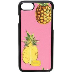Dolce & Gabbana Women Pineapples Leather Iphone 7 Case ($190) ❤ liked on Polyvore featuring accessories and tech accessories