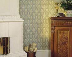 Tapethuset Gammelsvenska tapet kolleksjon ornamenter grøn hvit