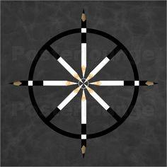 Udo Dittmann - Buddhistisches Rad #Symbole #Bleistifte #Kunst #Buddhismus #symbols #pencils #art #rad #wheel  #poster