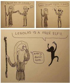 Legolas is a FREE ELF