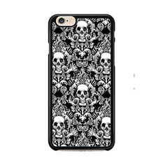 Black Damask Skull Pattern IPhone 6| 6 Plus Cases