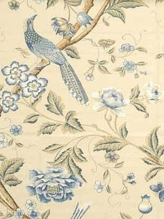 DecoratorsBest - Detail1 - GPJ BP10017-3 - ELINORS CHINES BLUE - Fabrics - - DecoratorsBest