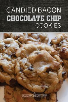 If youre a fan of salty and sweet, you are in for a serious treat! Soft chocolate chip cookies with candied smoky bacon mixed in for a delicious balance of the flavors you crave!