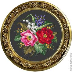View album on Yandex. Cross Stitch Rose, Cross Stitch Embroidery, Rug Hooking, Flower Designs, Needlepoint, Needlework, Decorative Plates, Art Deco, Bouquet