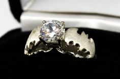batman diamond engagement ring