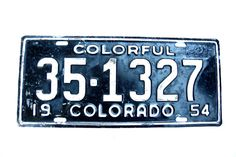 Colorado License Plate 1954 Number 351327 Colorful Colorado    #CO #ColoradoLicense #CoLicensePlate #driving #LicensePlate #Colorado #ColorfulColorado #VintageCoPlate #351327 #1954ColoradoPlate