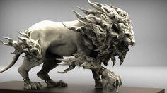 ArtStation - Turbulent Lion, keita okada