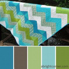 love these colors and a quilt like this for a little boy's room