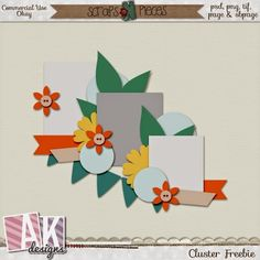 A fabulous and free cluster from AK Designs!  Head on over to her blog and grab it! #cluster #template