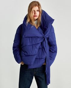 Image 2 of ASYMMETRIC QUILTED JACKET from Zara
