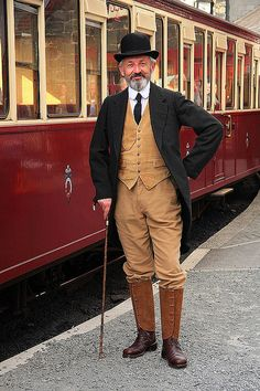 Victorian Gentleman - Ffestiniog Railway (3) by Snapping Platypus, via Flickr