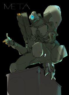 Meta - by Thomas Istepanyan on ArtStation. Line Artwork, Futuristic Technology, Creature Design, Cyberpunk, My Images, Concept Art, Sci Fi, Illustration Art, Character Design