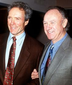 Gene Hackman With Clint Eastwood at the 18th Annual LA Film Critics Association Awards in Hollywood on January 19, 1993