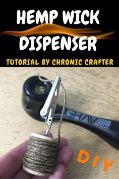 Avoid inhaling lighter fluid when medicating with marijuana, use hemp wick instead. Here's an easy DIY for a hemp wick holder and dispenser