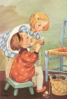 оригинальный размер Vintage Books, Vintage Art, Sewing Clipart, Childhood Images, Art For Art Sake, Cartoon Pics, Vintage Nursery, Cute Images, Christian Art