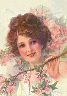 Vintage lady. I can't read the name, to tell whether the artist