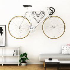 A Heart-Shaped Bike Hanger Designed For Bike Lovers The team of designers behind Hang Bike have created Heart a new wall-mounted bike rack design that looks just as nbsp hellip Bike Hanger, Bike Rack, Mint Kitchen, Prefab Cabins, Rack Design, Ceramic Teapots, Design Firms, Heart Shapes, Interior Design