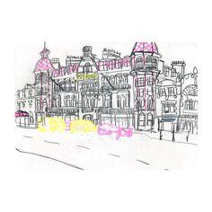 The Royal Hotel in Weymouth.  http://instagram.com/gabe_robertson http://gaberobertson.tumblr.com/ gaberobertsonuk@gmail.com  #sketchbook #illustration #hotel #royal #art #reportagedrawing #weymouth #sketch #drawing #aub #gaberobertson