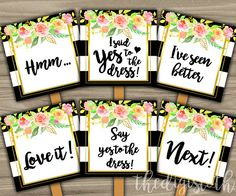 Say Yes To The Dress Signs Bridal Shower Wedding Ping Shabby