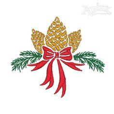 Pine cone Pinecone ribbon Christmas Tree design Machine Embroidery INSTANT DOWNLOAD pes dst Christmas Tree Design, Embroidery Fonts, Machine Embroidery Designs, Teapot Crafts, Monogram Machine, Christmas Embroidery, Tree Designs, Pine Cones, Quilt Blocks