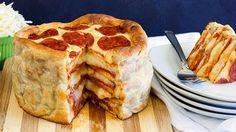 Συνταγές για μικρά και για.....μεγάλα παιδιά: Πως να κάνουμε Τούρτα -πίτσα Πεπερόνι!