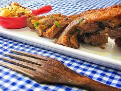 Costelinha de porco marinada na geleia de gengibre