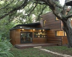 Container House - House made with container with wooden facade - Who Else Wants Simple Step-By-Step Plans To Design And Build A Container Home From Scratch?