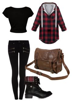 """Modern Red Riding Hood"" by fashiongurl5683 ❤ liked on Polyvore featuring Paige Denim, DailyLook, VIPARO and modern"