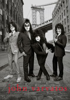 MIKE KAGEE FASHION BLOG: KISS THE ICONIC ROCK GROUP FRONTS THE JOHN VARVATO...