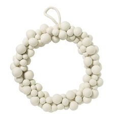 Felt Ball Wreath - White #WestElm