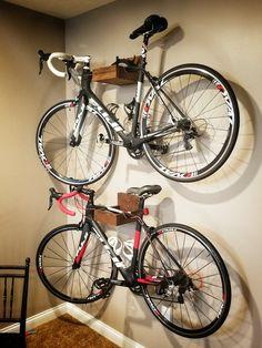 Wall hanging bike rack!