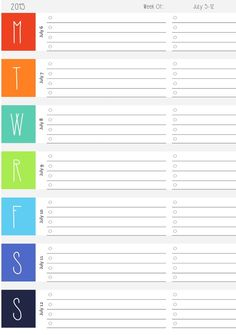 Free Weekly DATED Calendar Printables!  2016-2017 Lesson Planner http://www.rebeccaaranyi.com/lesson-planner.html