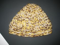 Spicy Brown Mustard Tweed Winter Hat by CrochetandMacrame on Etsy, $10.00