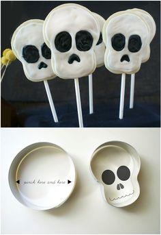 DIY Skull Cookie Cutters
