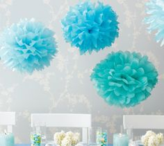 Tissue Paper pom-poms. Instructions can be found here: http://www.marthastewart.com/how-to/tissue-paper-pom-poms-how-to#slide_0
