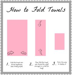 Image Gallery For Website How to fold bath towels u display ideas The Pink Flour