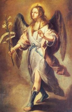 Archangel Gabriel ~ I like this painting since it captures the non-human…                                                                                                                                                                                 More