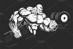 Buy Bodybuilder with Dumbbells by on GraphicRiver. Vector graphics Install any size without loss of quality. ZIP archive contains: 1 -file 1 -file PNG; 1 -file P.