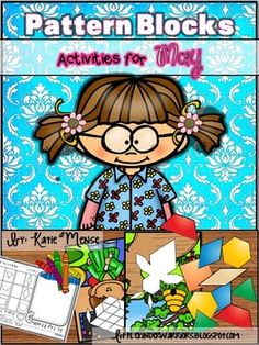 Adorable Pattern Block Puzzles for May. These are differentiated, include games and 4 different response sheets!!!