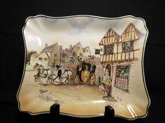 Royal Doulton Old English Coaching Scenes Dish D6393 Signed W.E. Grace