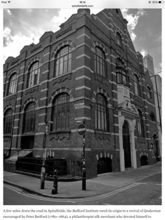 The Bedford Institute at the bottom of Quaker Street. During WWII. This place was used for school Dinners by All Saints and St Ann's Schools.