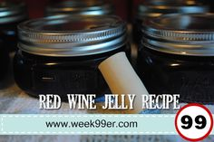 So let's make some Red Wine Jelly - remember waste not, want not!