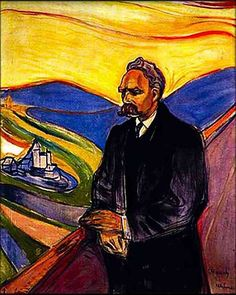 """Portrait of Friedrich Nietzsche by Edvard Munch. Quote: """"and those who were seen dancing were thought to be insane by those who could not hear the music"""" -Friedrich Nietzsche Friedrich Nietzsche, Georgia O Keeffe, Rembrandt, Edward Munch, Portraits Illustrés, Citation Art, Franz Marc, Images Gif, Oil Painting Reproductions"""