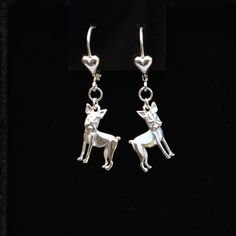 Boston Terrier Sterling Silver Earrings   25% off through May 10th.  Apply Coupon MOTHERSDAYOFF25