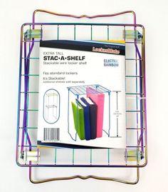 LockerMate Stac-A-Shelf Stackable Metal Wire Locker Shelf Electric Rainbow for sale online Locker Shelves, Wire Storage, A Shelf, Lockers, Electric, Home And Garden, Rainbow, Metal, Rain Bow