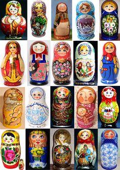 russian Matryoshkas russische Matroschkas русские матрешки