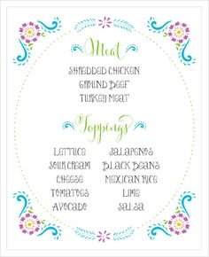 taco buffet sign