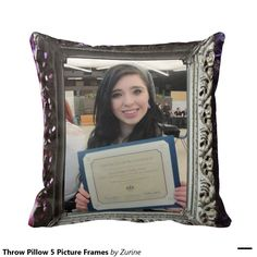 Throw Pillow 5 Picture Frames