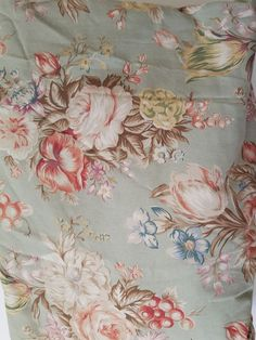 Ralph Lauren Charlotte Full Fitted Sheet Green Floral #RalphLauren #FrenchCountry